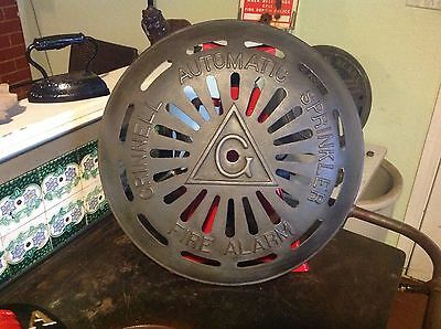 L@@K HUGE Antique  Cast Iron Grinnell Automatic Fire Sprinkler Alarm Bell Cover