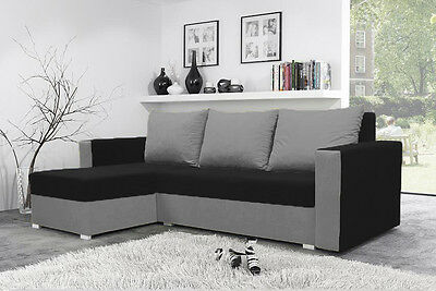 New MOJITO Corner Sofa Bed Best Quality BLACK AND GREY Free Delivery