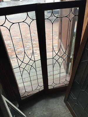 Sg 1128 2 Available Price Each Beveled Glass Leaded Transom Window 18.5 X 48