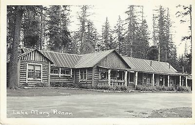 MONTANA, Lake Mary Ronan RPPC Postcard Cabin, Canceled Proctor, MT.