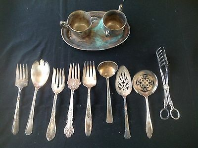 Collectible lot of Mixed Silver Plated Ware