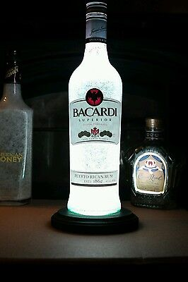 Bacardi Superior LED Remote Bottle Lamp Remote Control Girls Cave Man Cave Gift