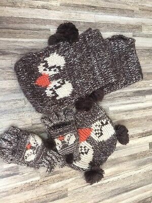Hat, Gloves And Scarf Set Age 6-9