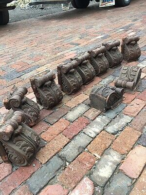 10 Matching Antique Plaster Cast Corbel's