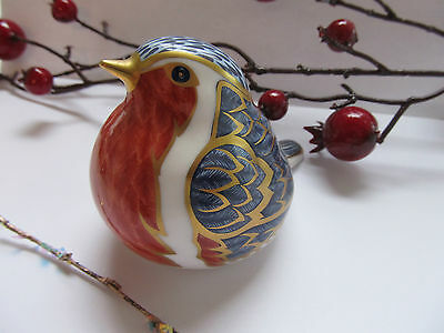 Vintage Royal Crown Derby Bird Robin Paperweight ,collectable. Hand Painted,mmii