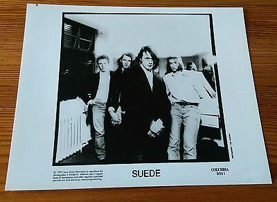 Suede original record label press print photograph from 1993