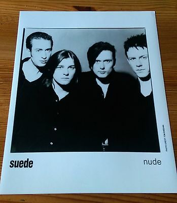 Suede original record label press print photograph from 1994