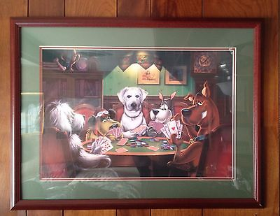 HANNA BARBERA SCOOBY DOO Dogs Playing Cards Framed Print - High Quality
