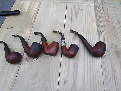 5 X Vintage Smoking Pipes