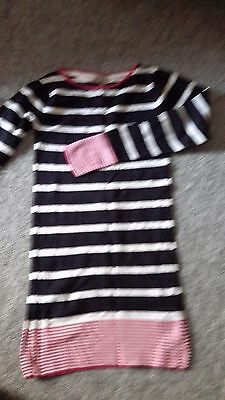 Girls 13/14 striped m&s indigo jumper dress