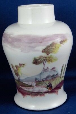 Antique 18thC Unknown Chinese Porcelain Scenic Vase Porzellan Scene China