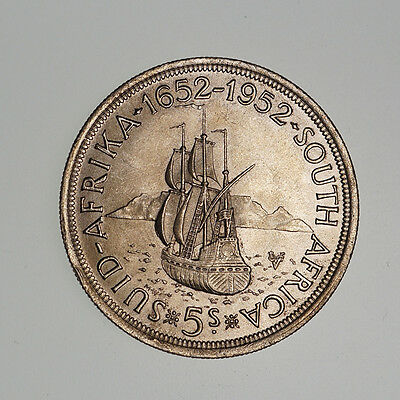 South Africa, 5 Shillings 1952, 300th Anniversary of Capetown