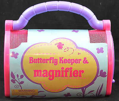 New Butterfly Keeper & Magnifier, Pink, For Children 3+