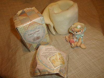 Enesco Calico Kittens Cat I'm All Fur You 1992 NOS Box Friendship Mouse Yarn