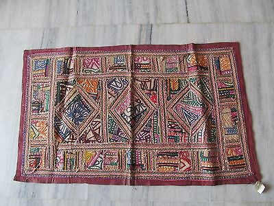 Vintage Indian Tribal Handmade Wall Decor Ethnic Patch Embroidery Tapestry #08