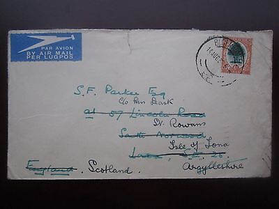 1935 SOUTH AFRICA AIRMAIL BLOEMFONTEIN COVER to SCOTLAND
