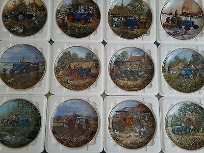 Set of 12 danbury mint Ford tractor plates by Michael Herring in mint condition
