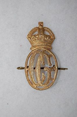 WWII British Royal Navy Coast Guard Cap Hat Insignia (Canadian?)