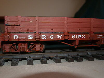 2 X Lgb German Made G Gauge Low Sided Gondola/ Flatcar D.r.g.w