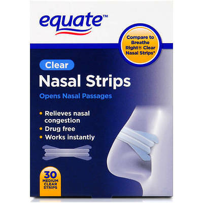 Equate Nasal Strips, Clear, 30 count