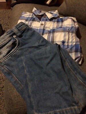 Next Boys Outfit Shirt And Jeans Size 8