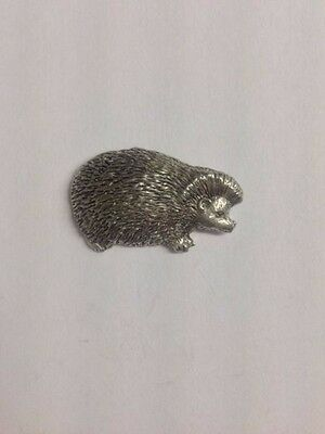 Code Q214 Hedgehog Made from Solid Fine English Pewter Pin Lapel badge