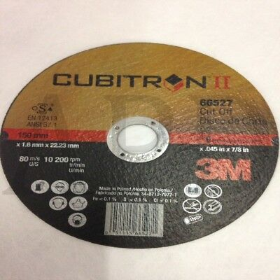 "3M Cubitron Ii 66527 6"" X 0.045"" X 7/8"" Cut-Off Wheel T1 (1 Wheel)"