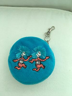 NWOT Universal Studios Dr. Seuss Plush Coin Purse Pouch Key Ring Thing 1 Thing 2