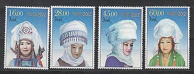 Costuemes Kyrgyzstan Kirgistan 2012 MNH** Mi.702-705 Traditional Headdresses