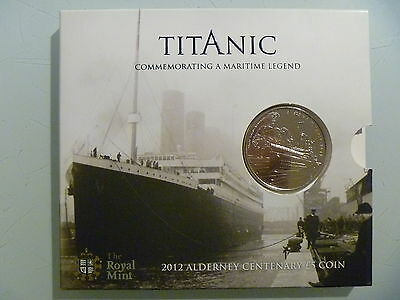 2012 Titanic Centenary £5 Coin  - Royal Mint- Alderney