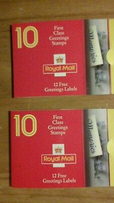 2 x 1992 GB SG KX4 Memories Greetings Booklets - complete see photos