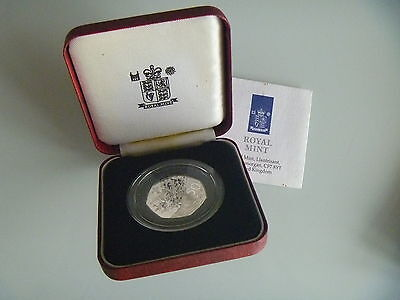 Silver Proof D-Day Fifty Pence Coin Boxed Royal Mint & Certificate