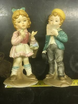 Boy & Girl Ornament, Old, Collectible
