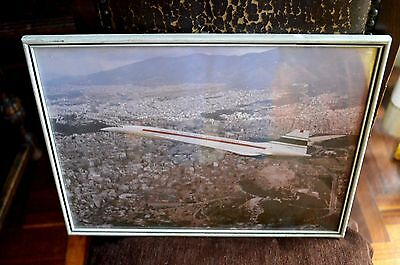 Concorde F-Wtss British Aircraft Corporation Athens Greek Color Photo Airlines