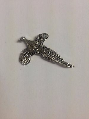 Code Q256 Pheasant Made from Solid Fine English Pewter Pin Lapel badge