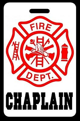 CHAPLAIN Firefighter Luggage/Gear Bag Tag - FREE Personalization