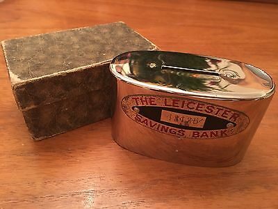 Vintage Boxed The Leicester Savings Bank Money Box