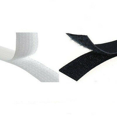 25 Meter Hook And Loop Sew On Tape Fastener 15mm/20mm/25mm/30mm/40mm Black White