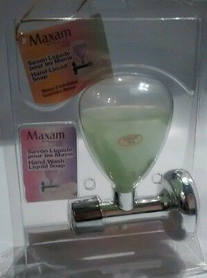 Liquid Soap Dispenser Wall Mount Shampoo box succion cup (soap is expired) NEW