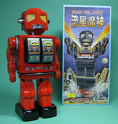 Original Space Evil Robot Red Roboter Lack Rot Made By Metal House Made In Japan