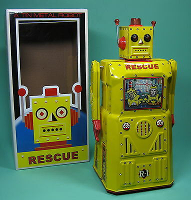Great Original R1 Rescue Robot Rocket Usa Roboter Lack Rare Yellow Edition!
