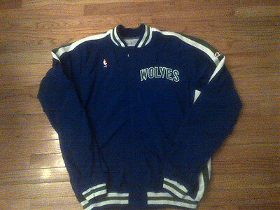 Greg Foster Minnesota Timberwolves NBA Champion Game Worn Warm Up Jacket