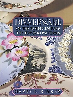 20th Century Porcelain China Dinnerware - Makers Patterns Forms / Book + Values