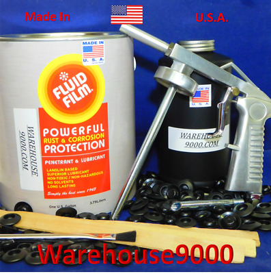 Gallon Fluid Film Undercoating with Standard Spray Gun, Qt Bottle and 100 plugs