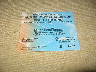 27 November 1990 Southampton Crystal Palace Rumbelows League Cup Fourth Round