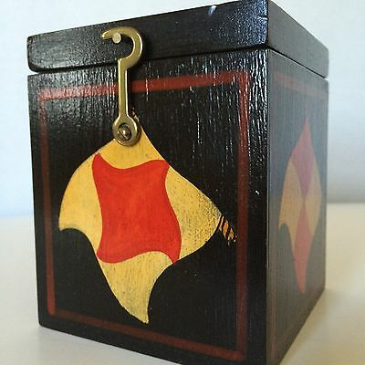 Handcrafted Wood Jack In The Box Signed By Artist