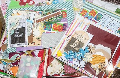 Craft activity pack beads,card,fabric die cuts,ribbons,findings,papers tags etc