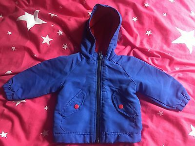 Boys Primark Early Days Fleece Lined Coat Age 3-6 Months