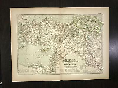 Antique 1897 Map - No. 101 Turkey in Asia with Russian Trans-Caucasia
