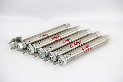 "LOT OF 5 Bimba 021.5 Pneumatic Cylinder Single Action 9/16"" Bore 1-1/2"" Stroke"